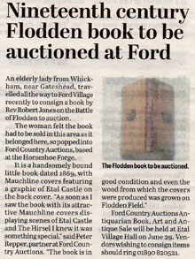 Nineteenth century Flodden book to be auctioned at Ford