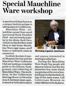 Special Mauchline Ware workshop